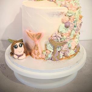 Mermaid Unicorn Buttercream Cake