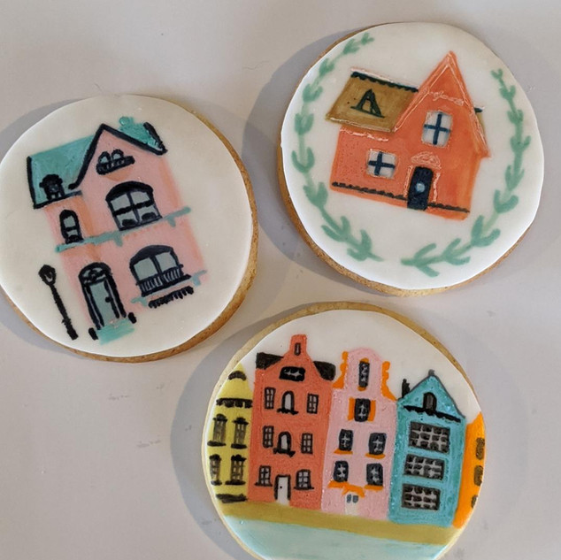 Hand Painted New Home Biscuits
