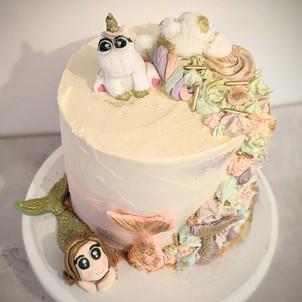 Mermaide Unicorn Buttercream Cake