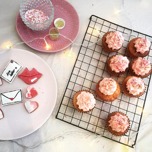 Love Letter biscuit topped cupcakes
