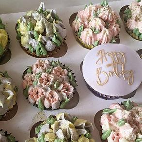 Flower Cupcakes Pink Door Cakes.jpg