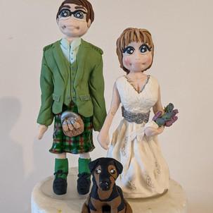 Wedding Couple Cake Topper
