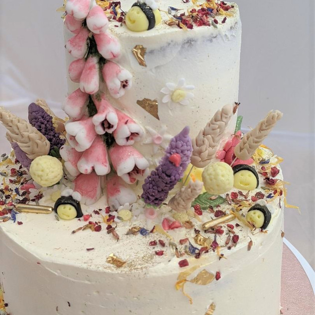 Meadow Flower Birthday Cake