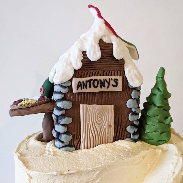 Ski Lodge Birthday Cake