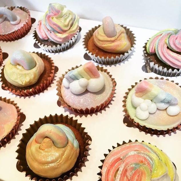 Assorted Rainbow Cupcakes