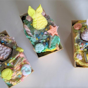 Little Mermaid Loaf Cakes