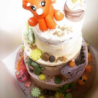 Three tier Dino Cake
