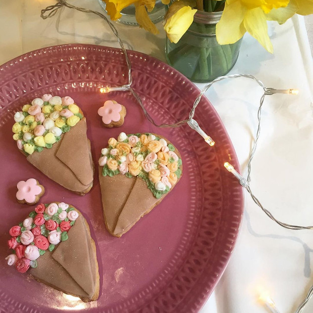 Bunch of flowers biscuits