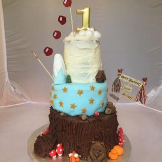 3 tier Adventure Awaits Cake