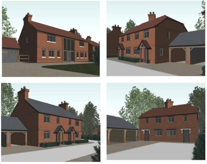 Planning permission received for seven houses, Sherborne St John