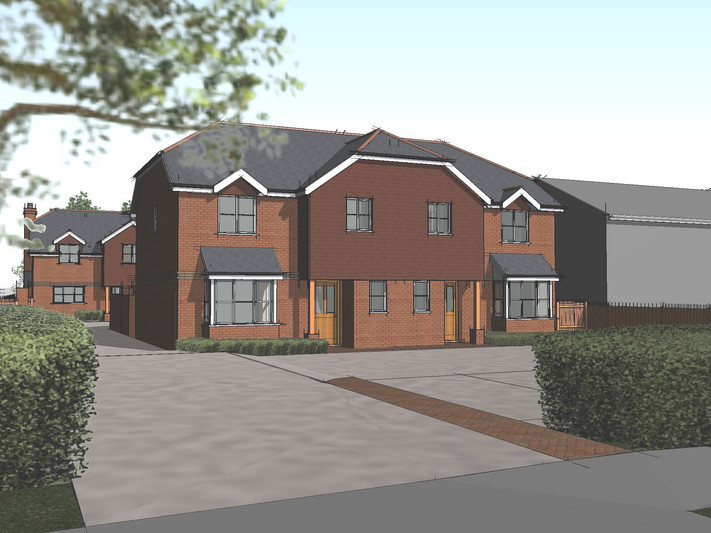 Planning permission granted for three houses, Basingstoke