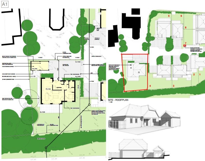 Planning permission has been granted for a new chalet-style bungalow off Homestead Rd in Kempshott