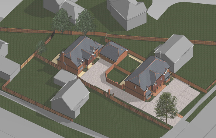 Application for 3 houses in Basingstoke submitted