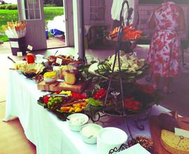 Appetizer Buffet w Cheese Assortment Mackinaw Valley Vineyard Pavilion