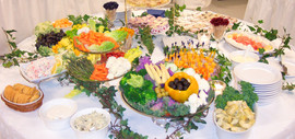 Cold Appetizer Buffet at Housewarming Party