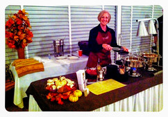 Donna at Chef's Charity Event / Mackinaw Valley Vineyard