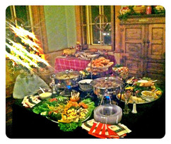 Hot Appetizer Buffet for Holiday Gathering at Davis Mansion Bloomington