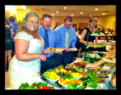 Appetizer Buffet for Wedding Reception at Knight's of Columbus Hall Peoria