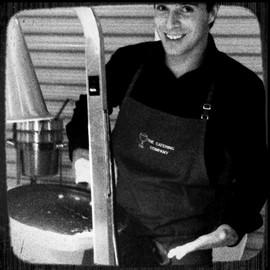 Joe at Chef's Charity Event / Mackinaw Valley Vineyard