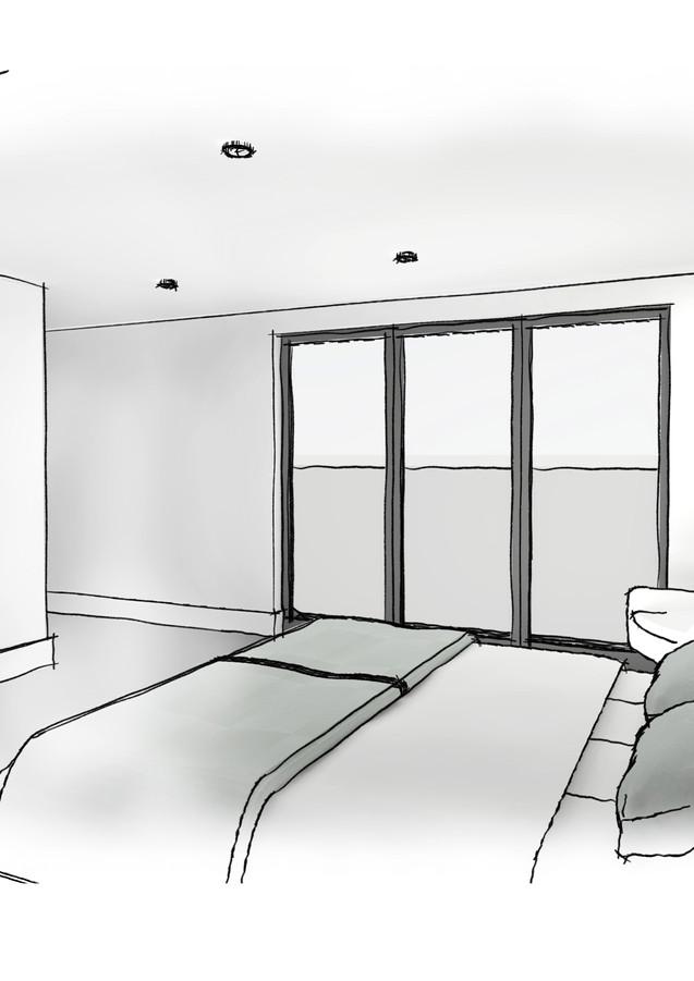 Abbotsford Gardens Interior Sketch