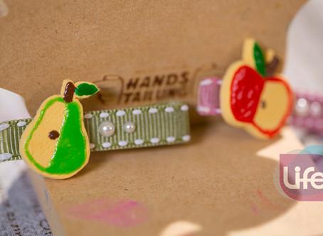 髮飾 DIY-輕土水果餅乾