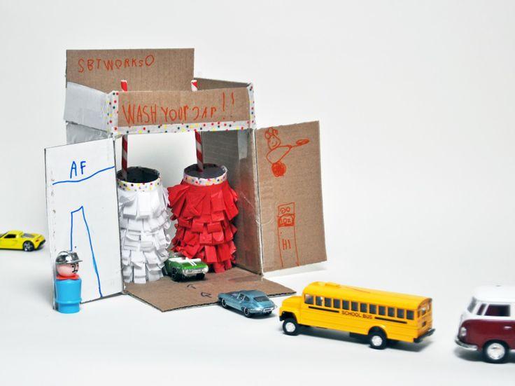 【紙箱改造的小童玩具】