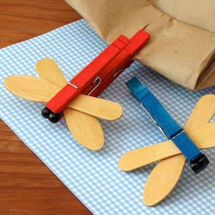 木夾改造小動物-蜻蜓