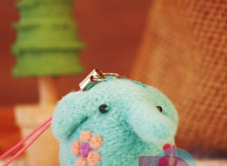 可愛大象吊飾