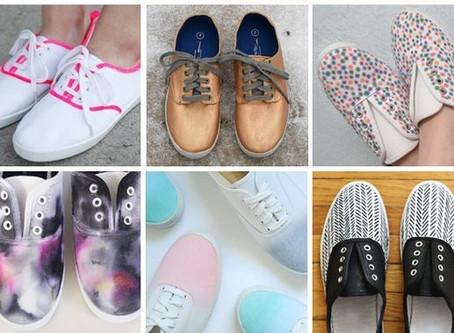 自製雙買也買不到的超時尚手繪布鞋