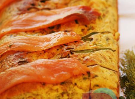 燻鮭魚鹹蛋糕