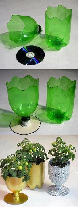 光碟寶特瓶花器