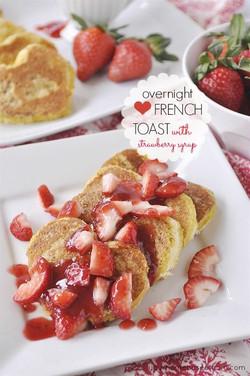 愛吐司配草莓
