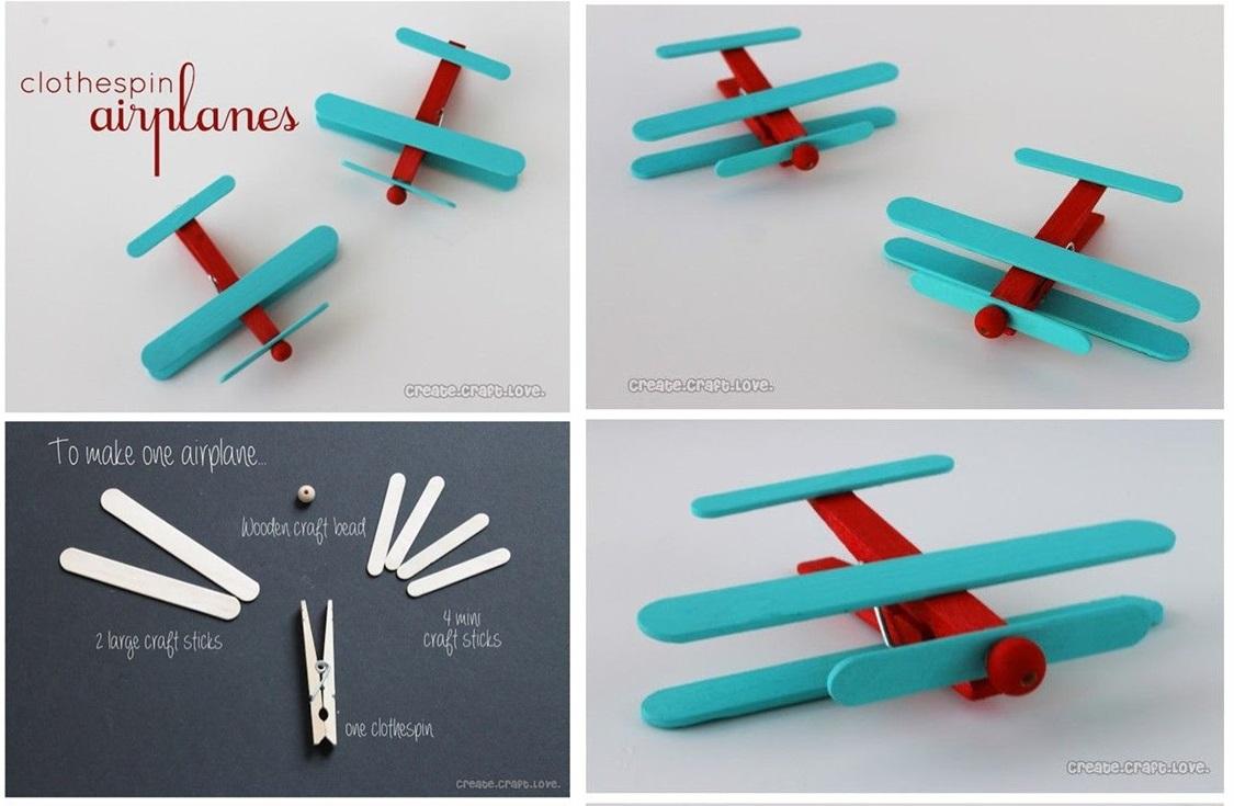 木夾玩具-小飛機