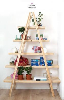 【收納改造創意分享 木衣架/木梯】