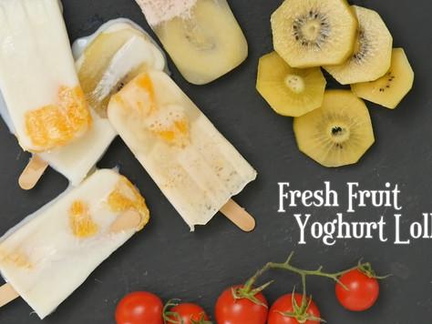 水果優格冰棒Fresh Fruit Yoghurt Lollies