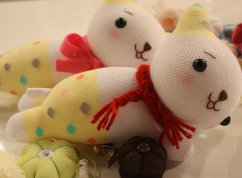 襪娃貓咪滑鼠護腕