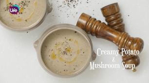 香菇馬鈴薯濃湯Creamy Potato & Mushroom Soup