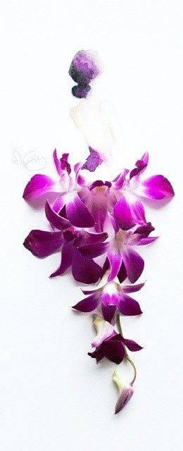 超級美的花藝水彩畫