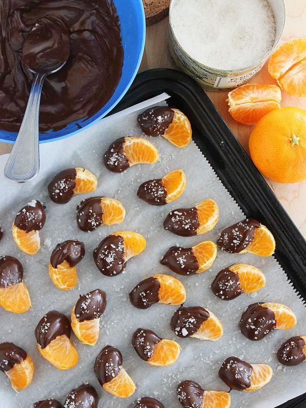 橘子配巧克力