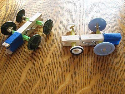 木夾玩具-小車