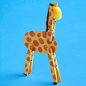 木夾改造小動物-長頸鹿
