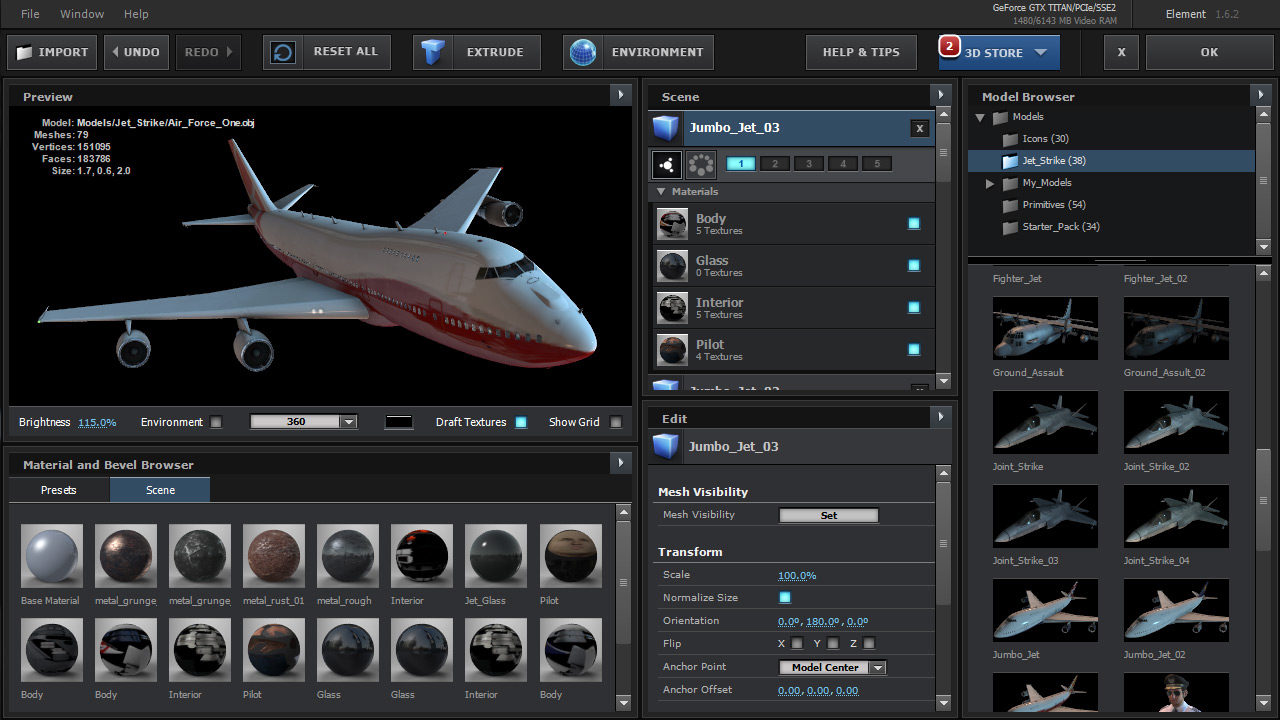 Element 3d Design Layout (Plane)