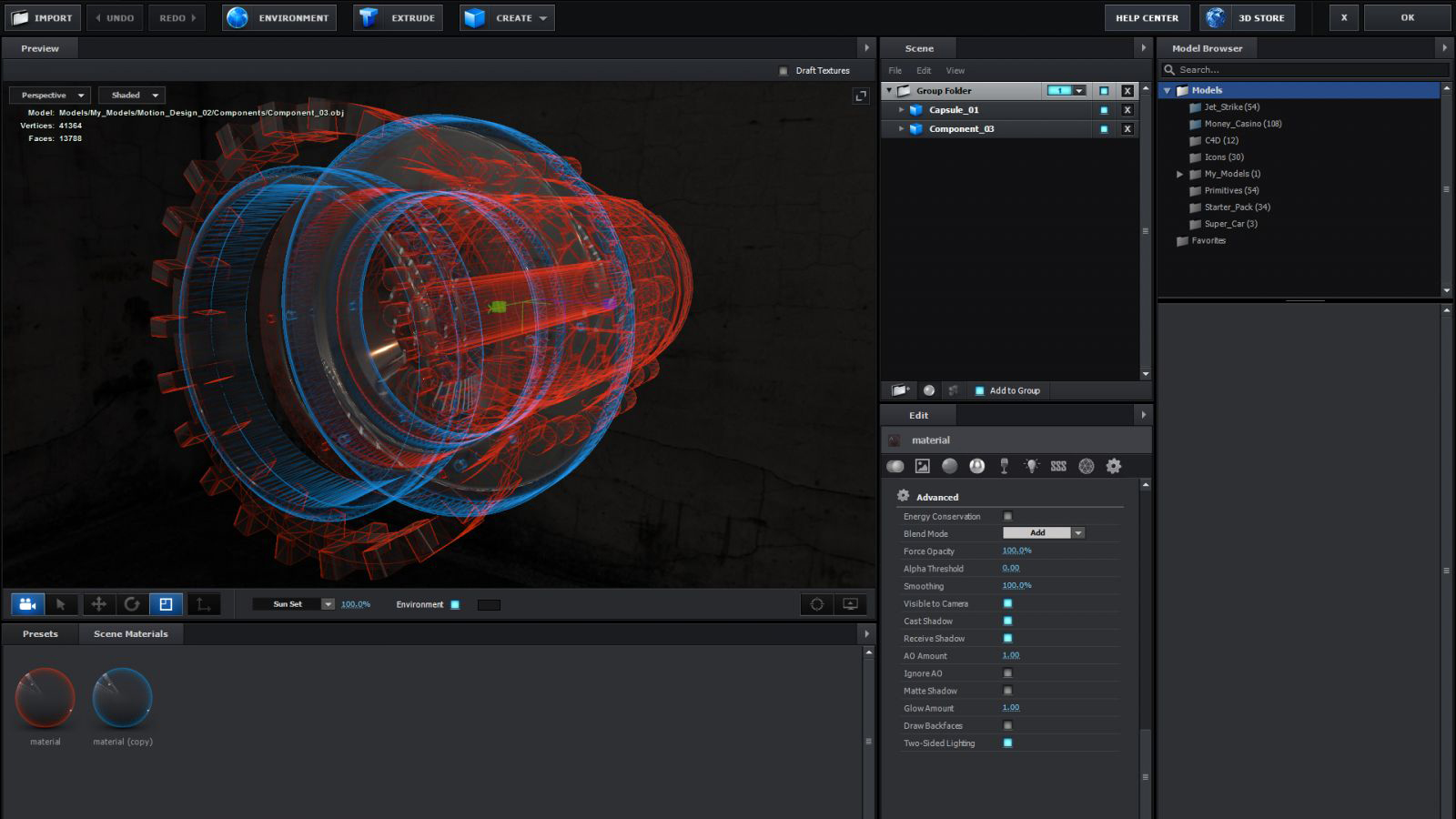 Element 3d Advanced Blending
