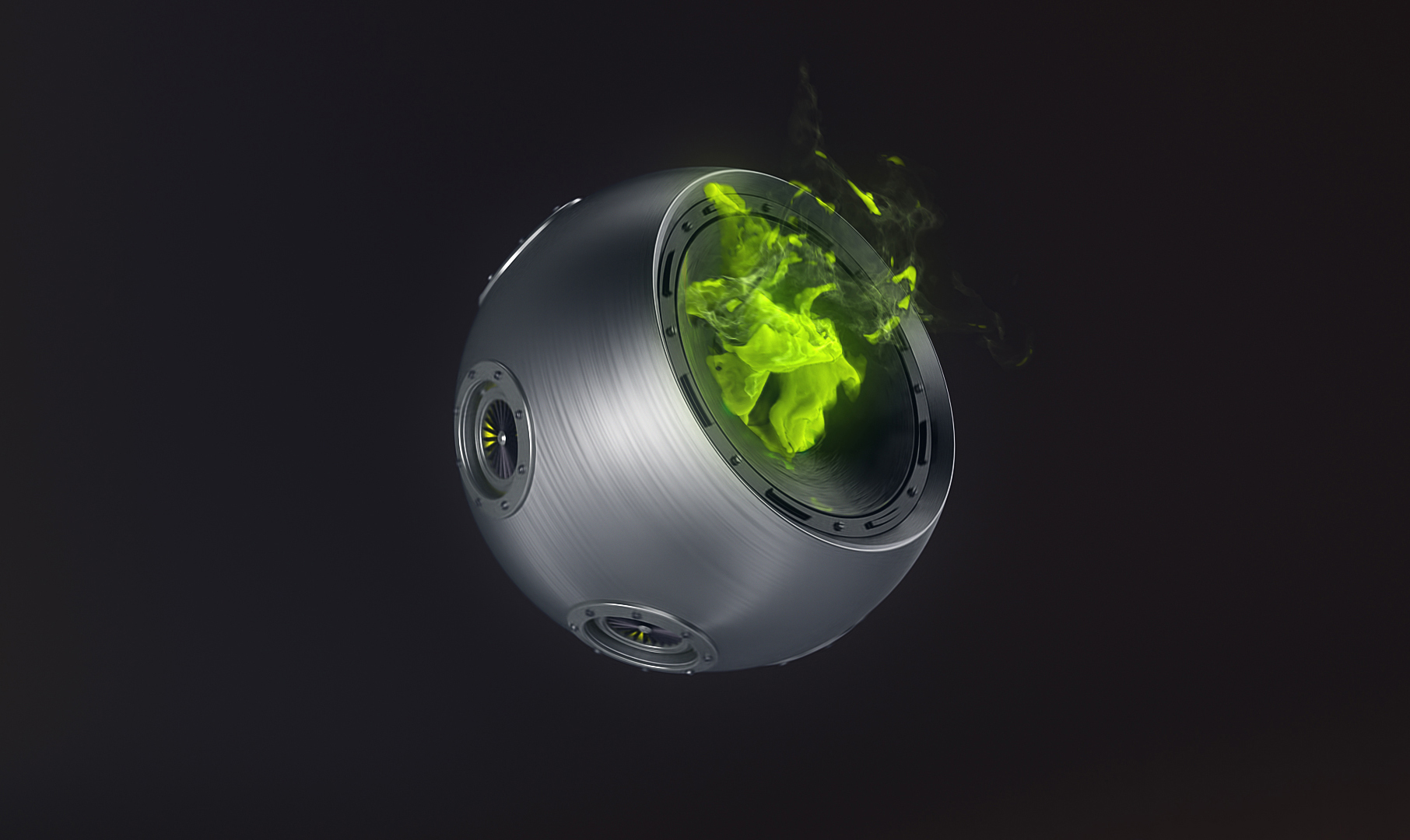 Smoking Orb 3d Render