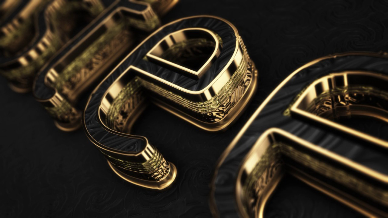 Element 3d Gold Text