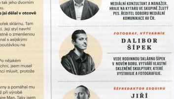 Dalibor Sipek in Esquire magazine