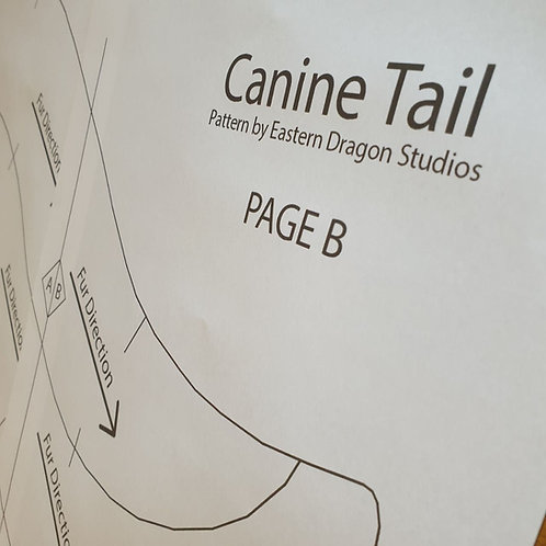 Medium Canine tail pattern