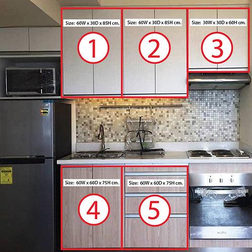 Modular Kitchen Cabinet Melamine Marine Plywood ( Price/ 1 module unit )