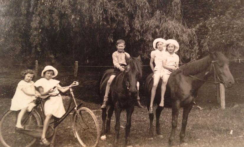 77. Fred and Jan's children horse bike (