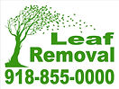 Leaf Removal Yard sign